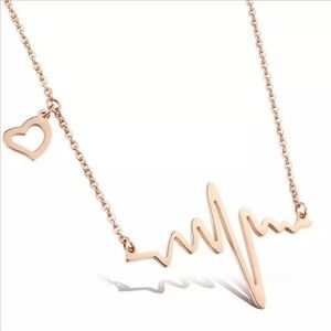 Jewelry - Gold Heartbeat Frequency Necklace
